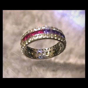Sterling silver w/Swarovski crystals ring
